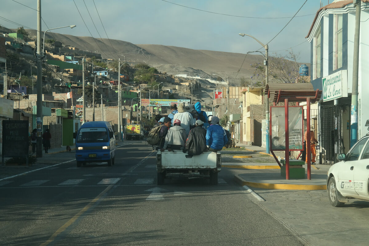 coastal drive in South Peru