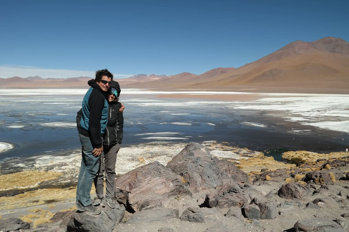 Micha und Alex at Laguna Colorada